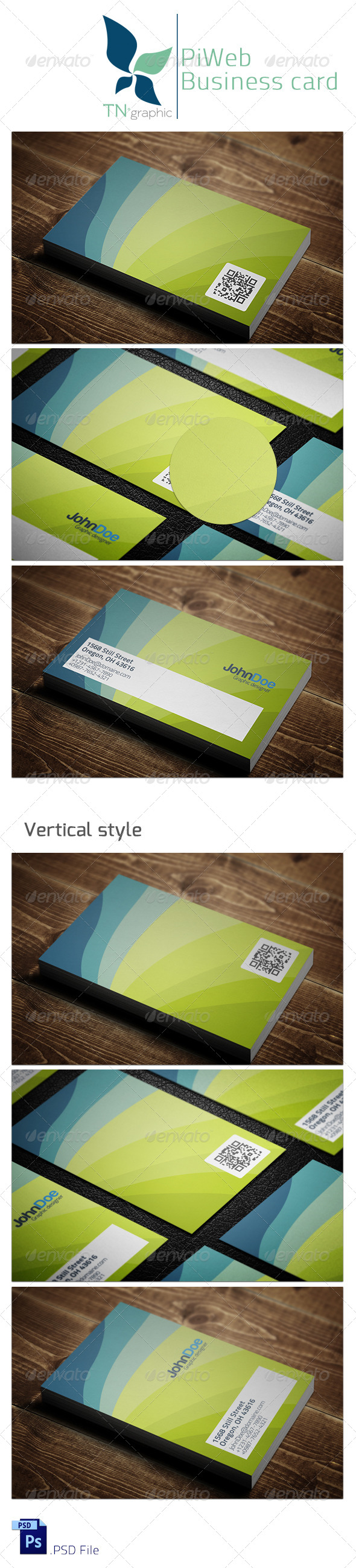 GraphicRiver Piweb Business card 5356859