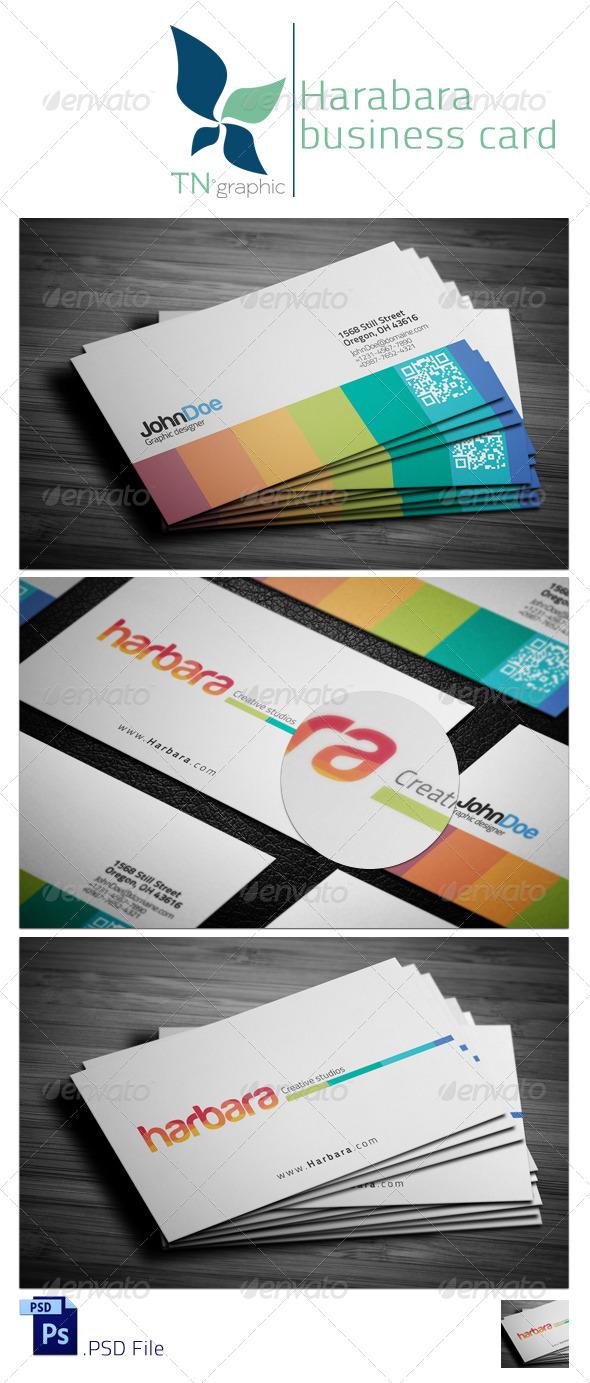 GraphicRiver Harbara Business card 5356865