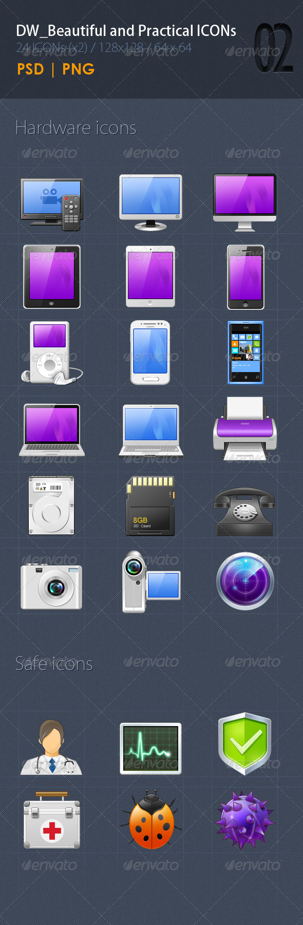 GraphicRiver 24 Beautiful&Practical ICON2 5352519