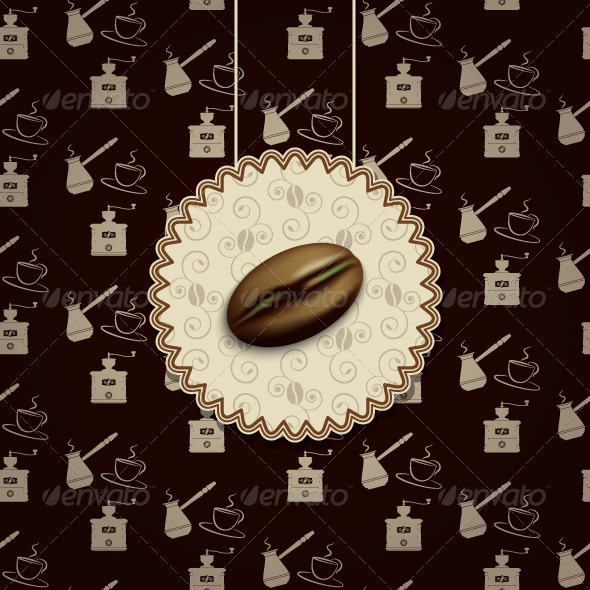 GraphicRiver Coffee Bean Background 5357390