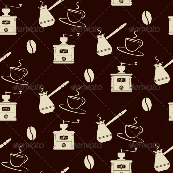 GraphicRiver Coffee Pattern 5357397