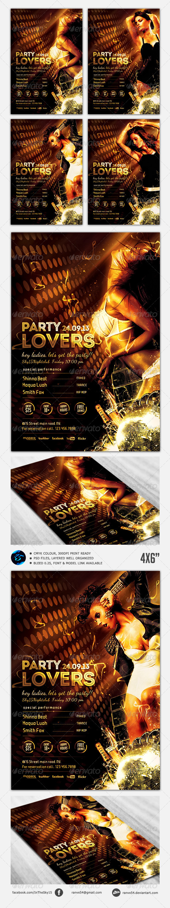 GraphicRiver Party Lovers Flyer Template 5307210