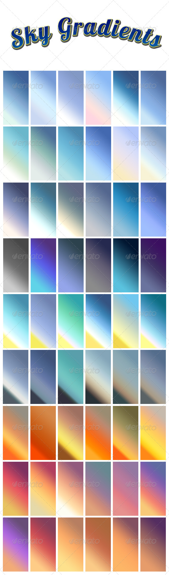 GraphicRiver Sky Gradients 5358287