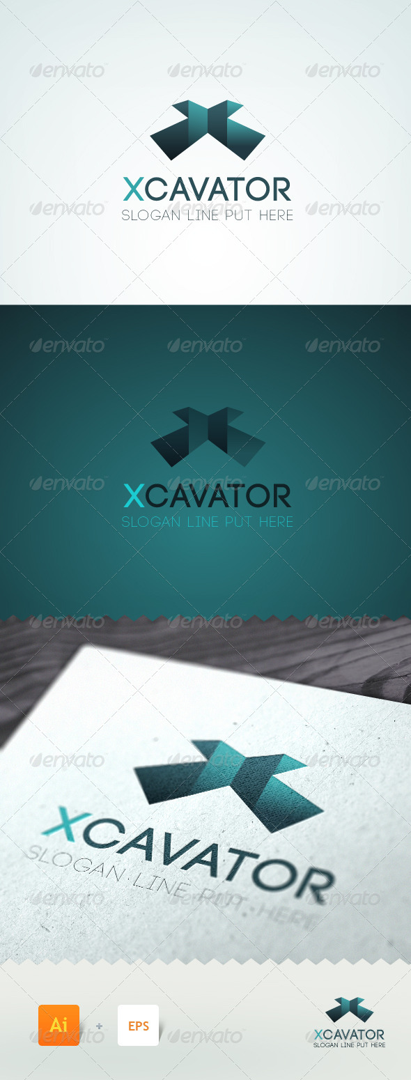 GraphicRiver Xcavator Letter X Logo Template 5358814