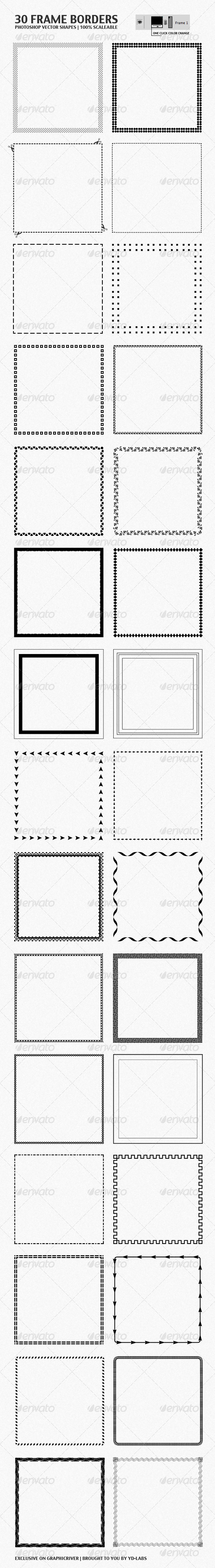 30 Frame Borders - Miscellaneous Web Elements