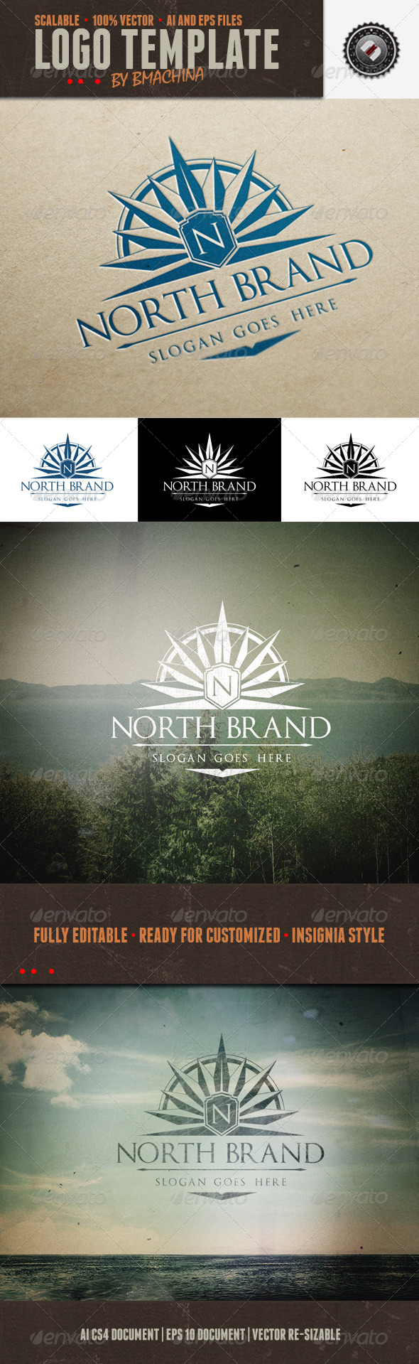 GraphicRiver North Brand Logo Template 5359084