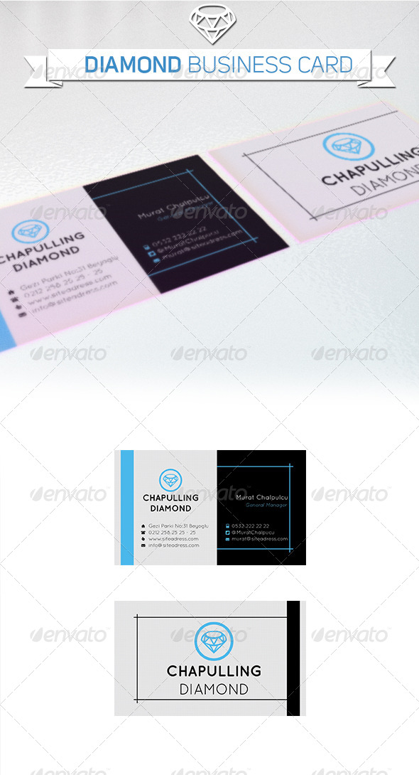 GraphicRiver Business Card Diamond Company 5359092