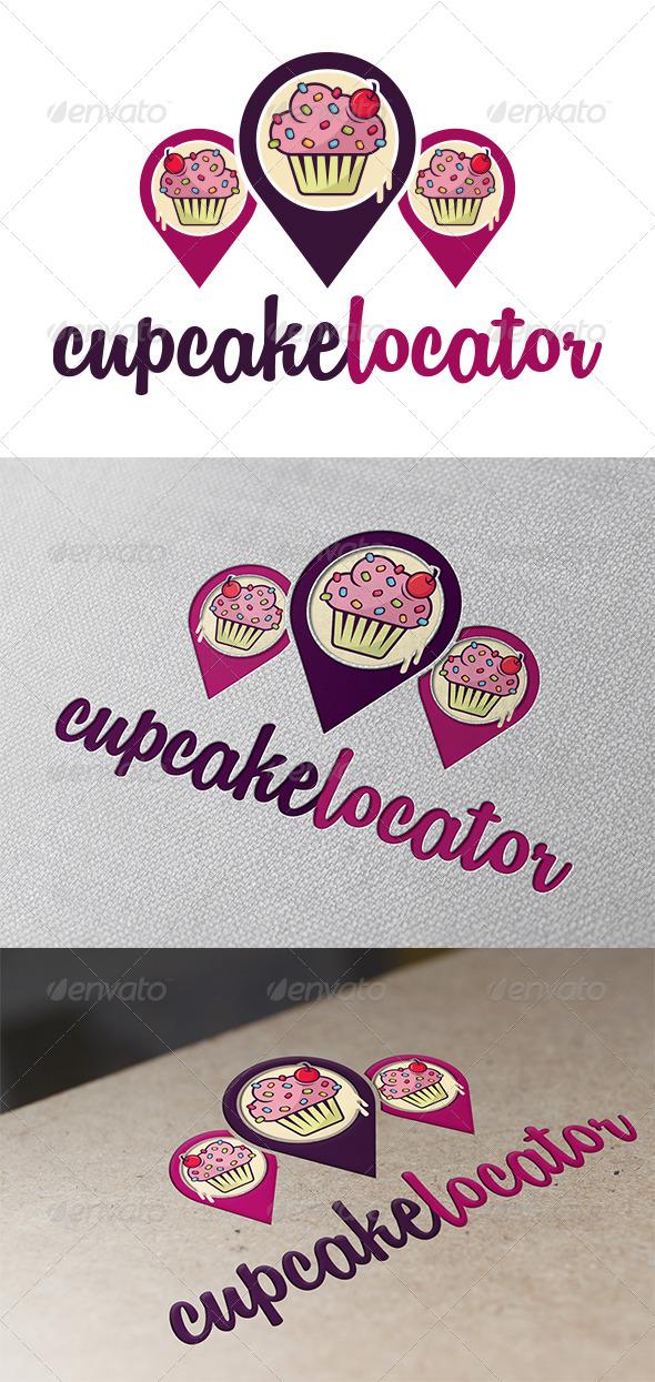 GraphicRiver Cupcake Locator Logo Template 5359124