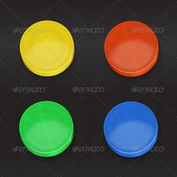 GraphicRiver Set Color Buttons 5359233