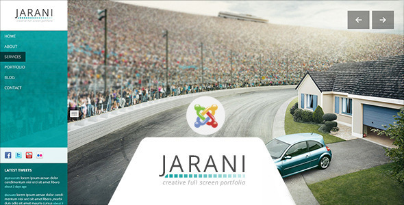 Jarani - Creative Full Screen Joomla Template