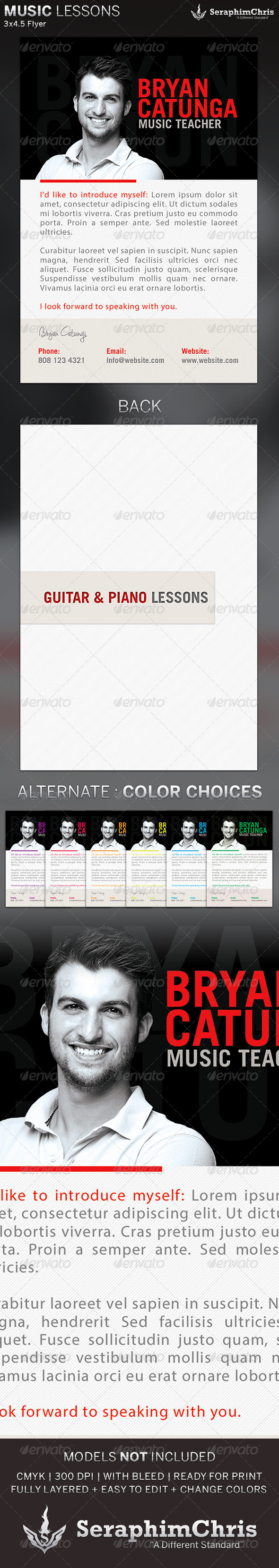GraphicRiver Music Lessons Flyer Template 5360099
