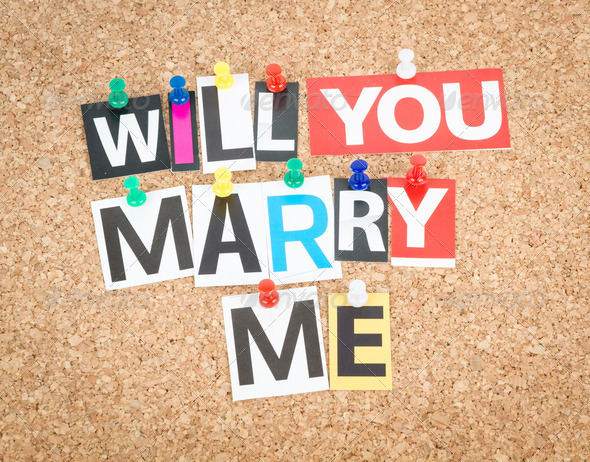 Marry Me - Stock Photo - Images