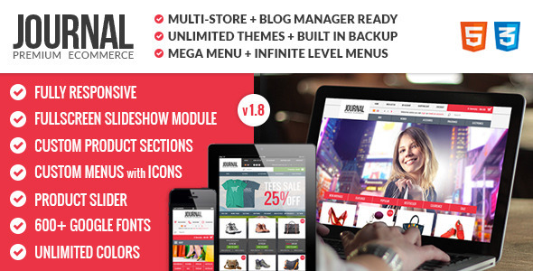 Journal v1.8.2 – ThemeForest Premium & Responsive OpenCart Theme