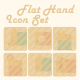 Flat Hand Icon Set  - GraphicRiver Item for Sale