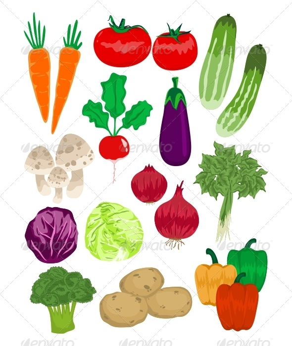 GraphicRiver Vegetables Vector Pack 5361558