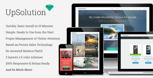 ThemeForest UpSolution Marketing Responsive One Page Theme 5327131