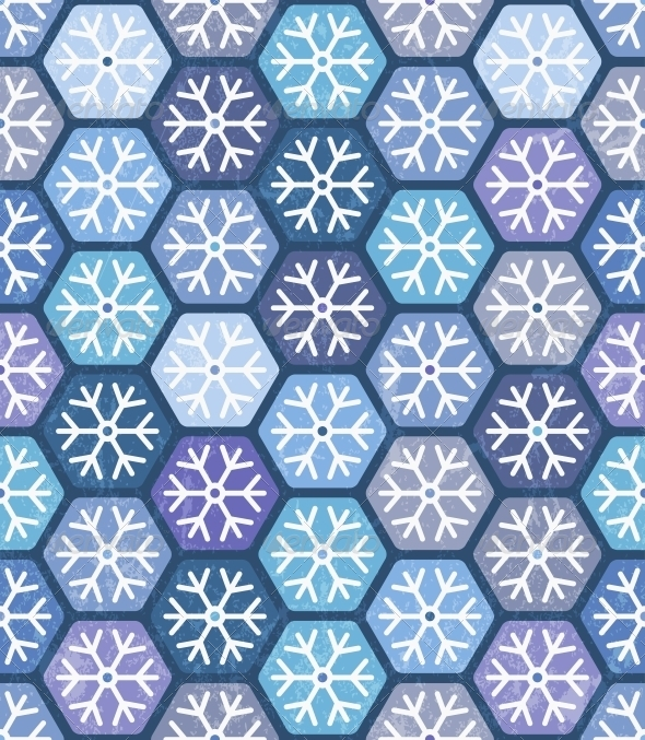 GraphicRiver Seamless Geometric Pattern with Snowflakes 5361573