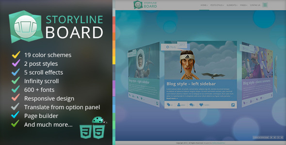 ThemeForest Storyline Board WordPress Theme 5337943