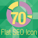 70 Flat Seo Icons - GraphicRiver Item for Sale