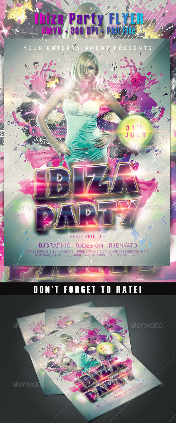 Ibiza Party Flyer - Clubs & Parties Events