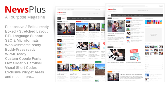 NewsPlus v1.0.3 – ThemeForest Magazine/Editorial WordPress Theme