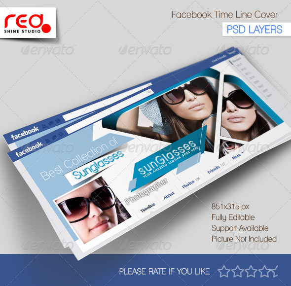 GraphicRiver SunGlasses Store Facebook Timeline 5362590