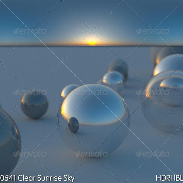 3DOcean HDRI IBL 0541 Clear Sunrise Sky 5362814