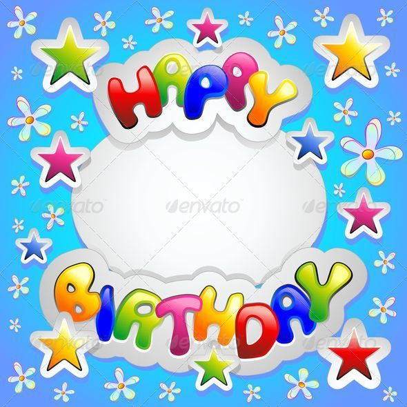 GraphicRiver Happy Birthday Colorful Stickers Card 5362819