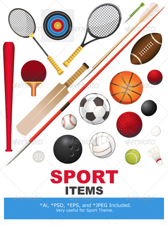 GraphicRiver Sports Equipment 5362915