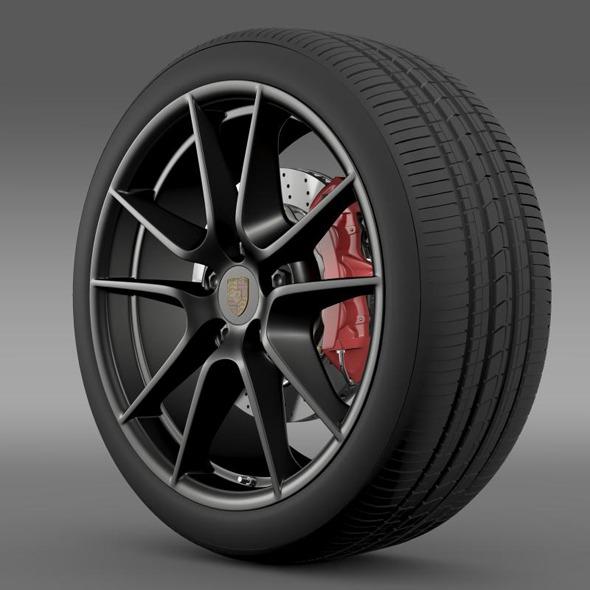 3DOcean Porsche 911 Carerra Exclusive wheel 5362992