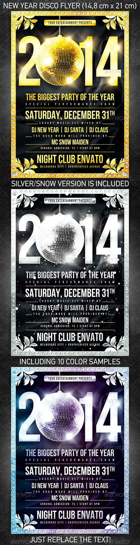 New Year Disco Flyer - Print Templates