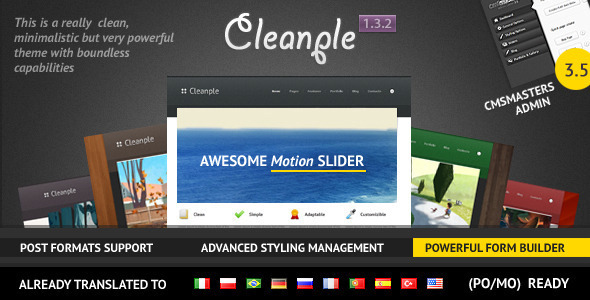 Cleanple - a powerful and elegant WordPress theme