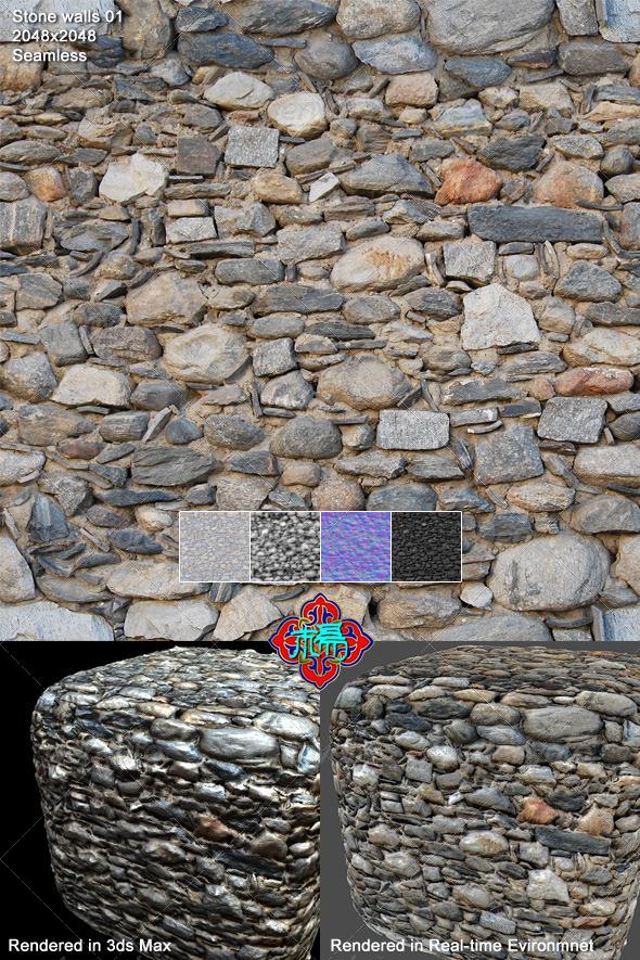 3DOcean Stone Walls Texture 01 5363094
