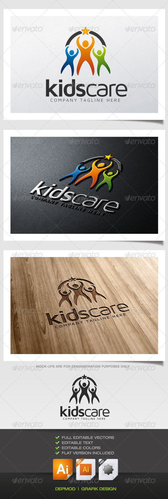 GraphicRiver Kids Care Logo 5363135