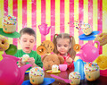 Tea Party Children with Food - PhotoDune Item for Sale