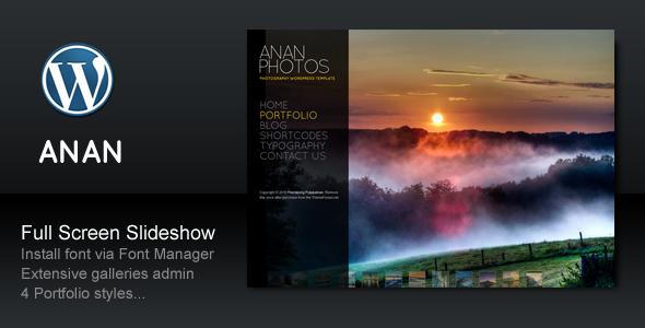 ANAN v2.7.1 – For Photography Creative Portfolio | ThemeForest