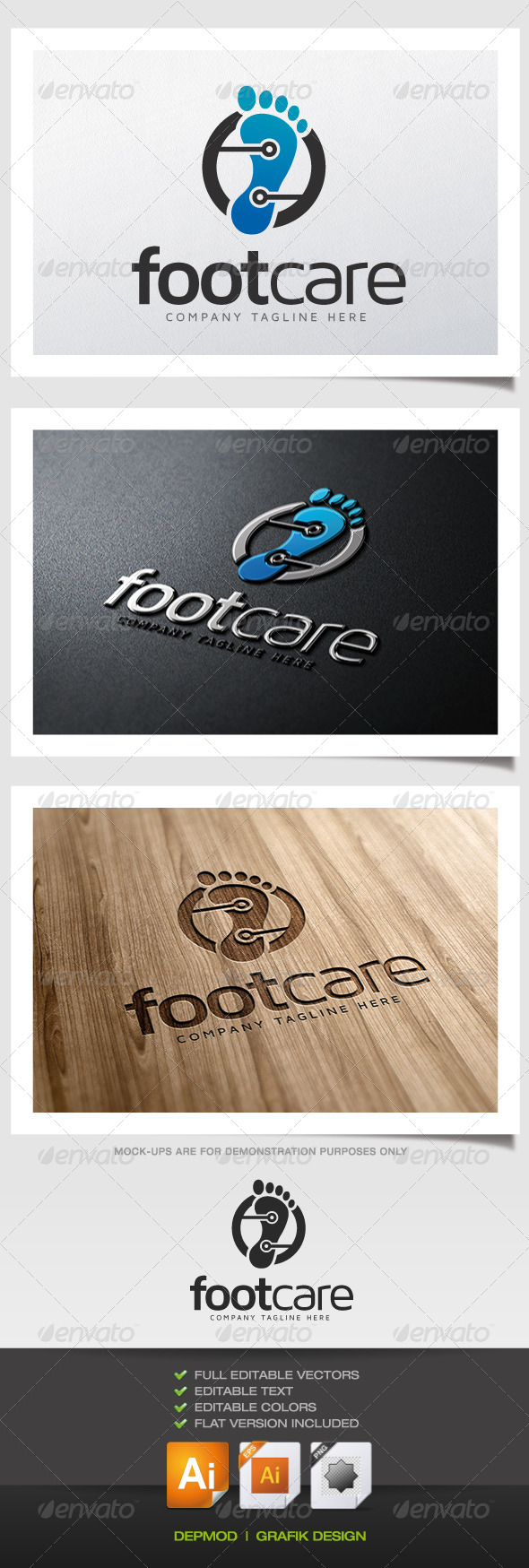 GraphicRiver Foot Care Logo 5364514