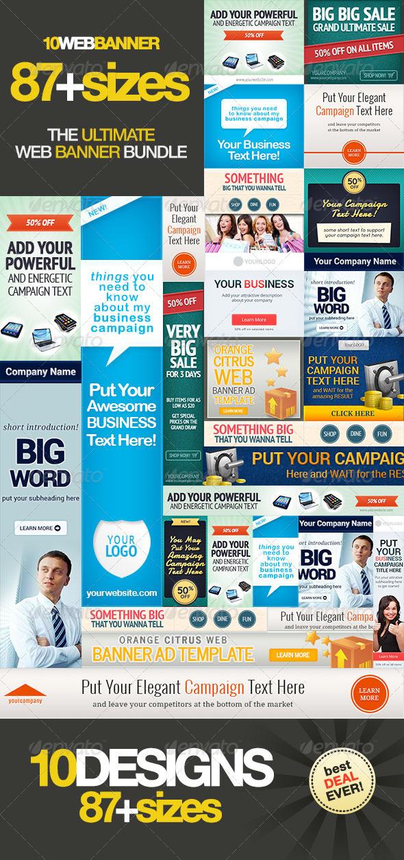 GraphicRiver Ultimate Web Banner Bundle Vol 1 5365183