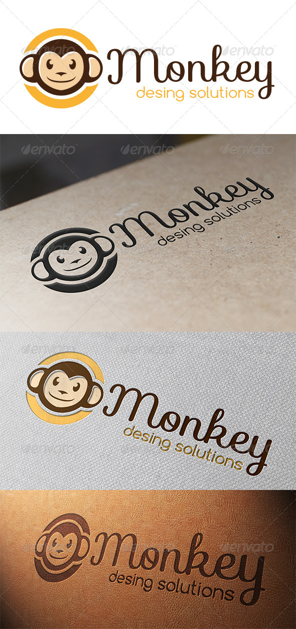 GraphicRiver Monkey Logo Template 5365515