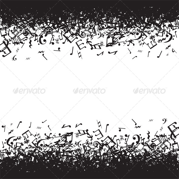 GraphicRiver Background with Music Notes Frame 5365584