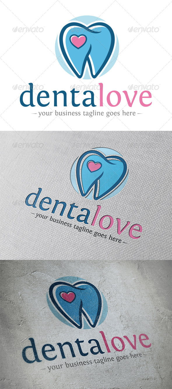 GraphicRiver Dental Love Logo 5365594