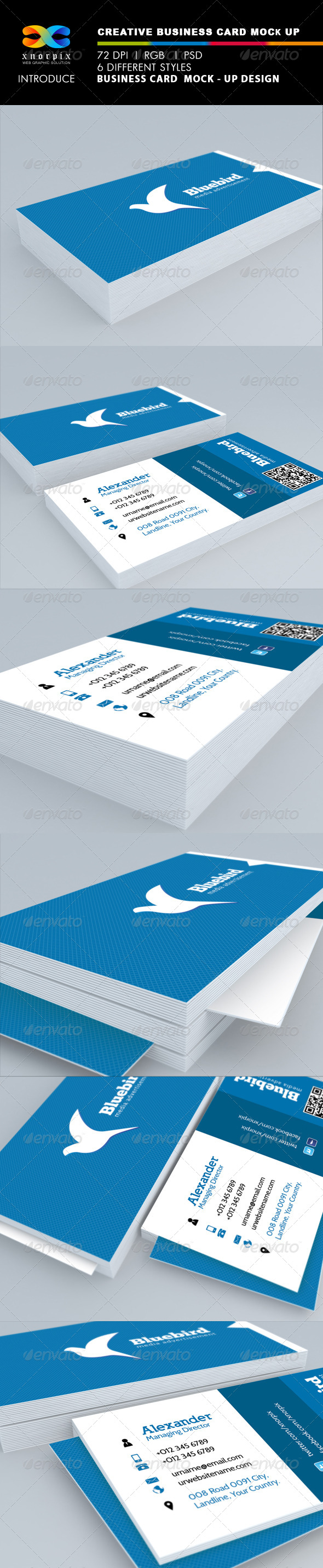GraphicRiver Realistic Business Card Mock up 5366186