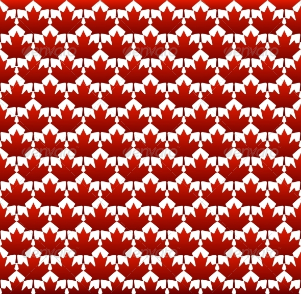 GraphicRiver Seamless Structure Canada Day 5367120