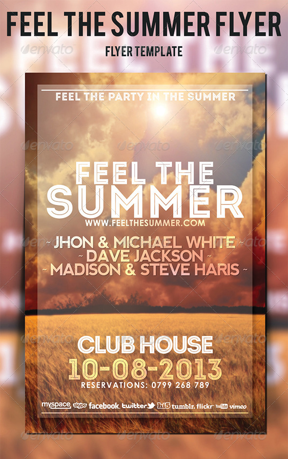 GraphicRiver Feel The Summer Flyer 5290655