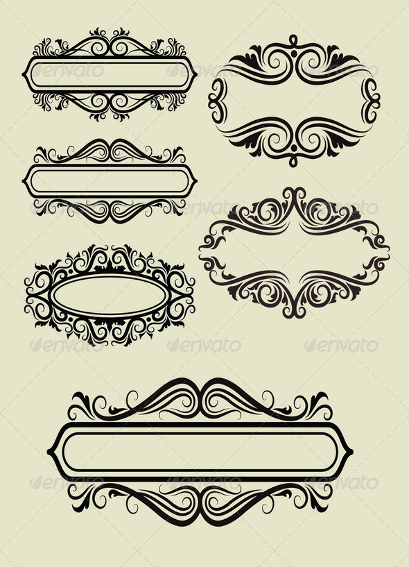 GraphicRiver Frame Ornament Decorations 5368824