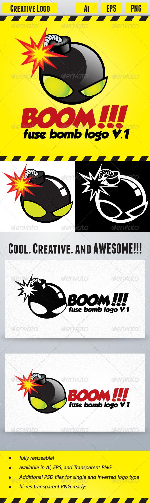 GraphicRiver Boom Fuse Bomb Logo V.1 5352578