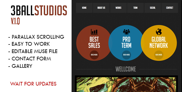 3Ball Studios Muse Template