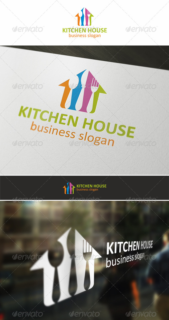 GraphicRiver Kitchen House Logo 5371310