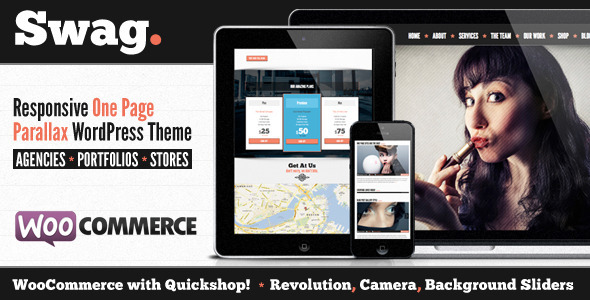 ThemeForest Swag One Page Parallax WordPress Theme 5330134