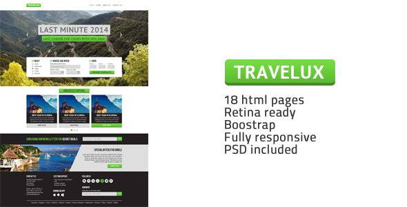 Travelux - Template for Travel or Hotel Business - Travel Retail